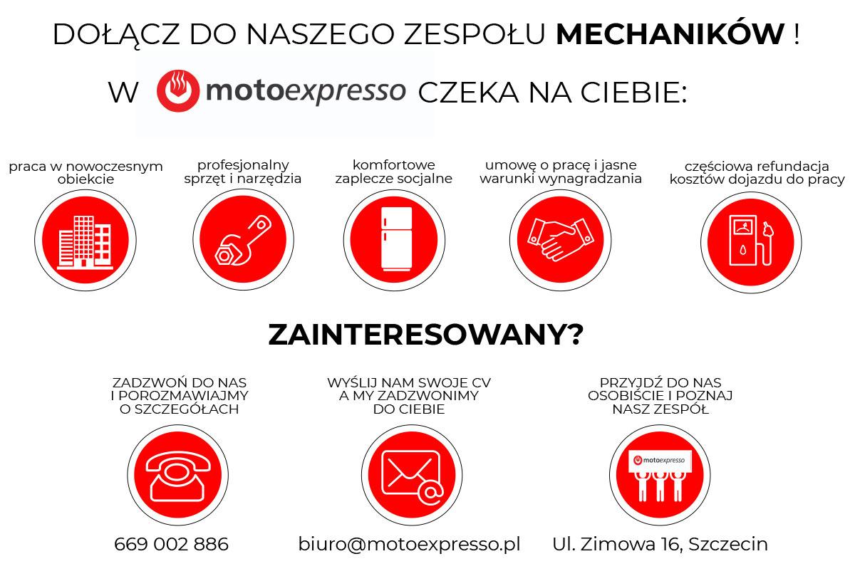 Praca mechanik samochodowy Szczecin Prawobrzeże